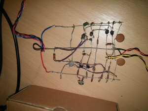 air-wired home baked instrumentation amplifier